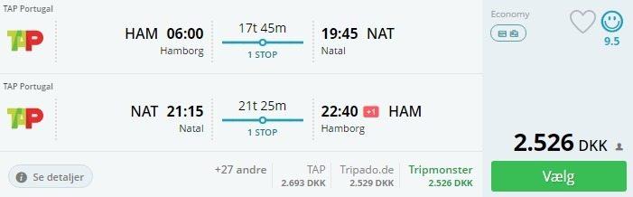 Oplev Brasilien: billige fly fra 2.344 kr. t/r inkl. bagage - 8 dages strandferie på et 4* hotel ...