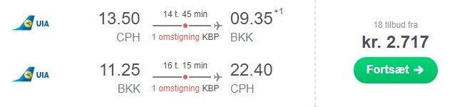 billige billetter til thailand